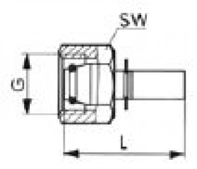 Press-type fitting DN2 tube