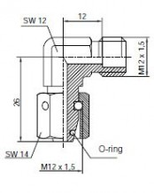 Elbow connection with sealing taper