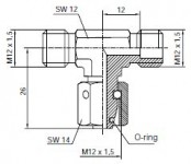 T-coupling with sealing taper